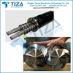 Conical Twin screws barrel for Extruder Plastic Making Machine