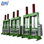 Motorcycle tyre bladder shaping BOM curing press